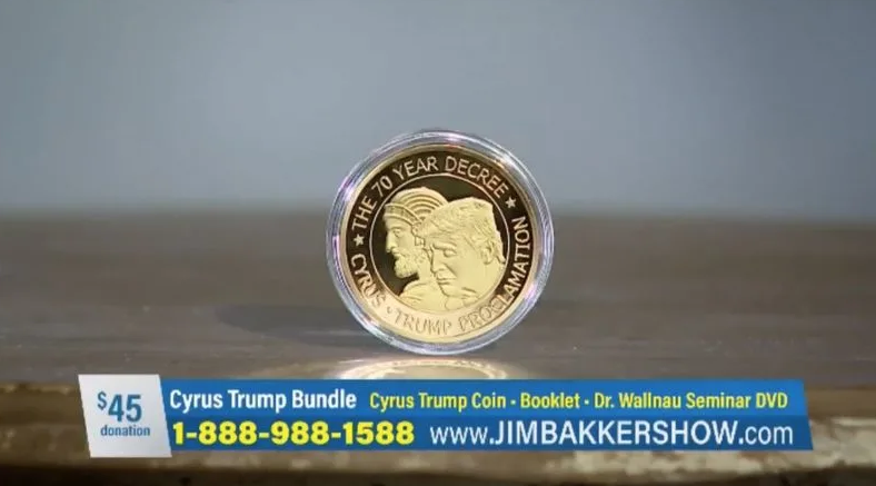 Jim Bakker Is Selling A $45 Coin That He Claims Puts Its Owner In Touch With God
