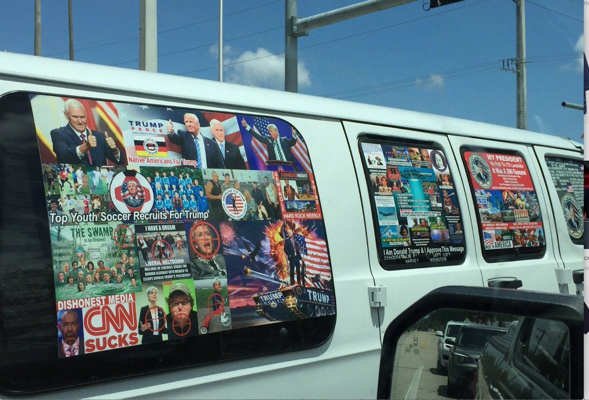 Van Of Alleged Bomber Covered In MAGA Bumper Stickers