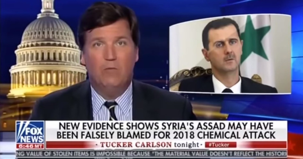 Tucker Carlson Covers For Assad, Says He Didn't Gas His Own People (He Did)