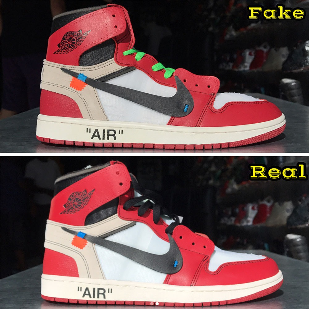 How To Tell If Your Off White Air Jordan 1s Are Fake