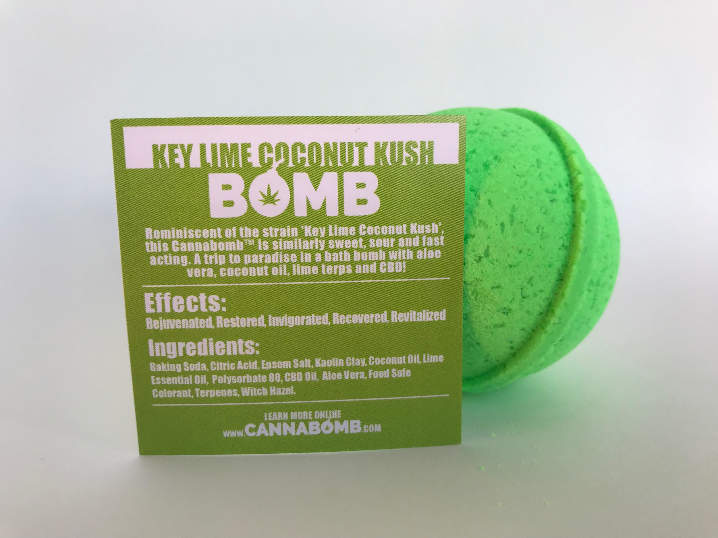 Topical Review: Key Lime Coconut Kush Bath Bomb by Cannabomb