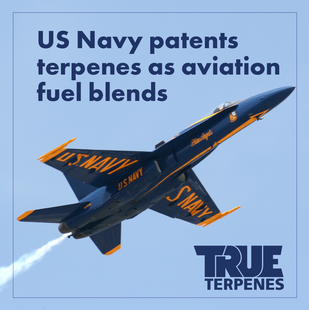 US Navy patents terpene aviation fuel blends