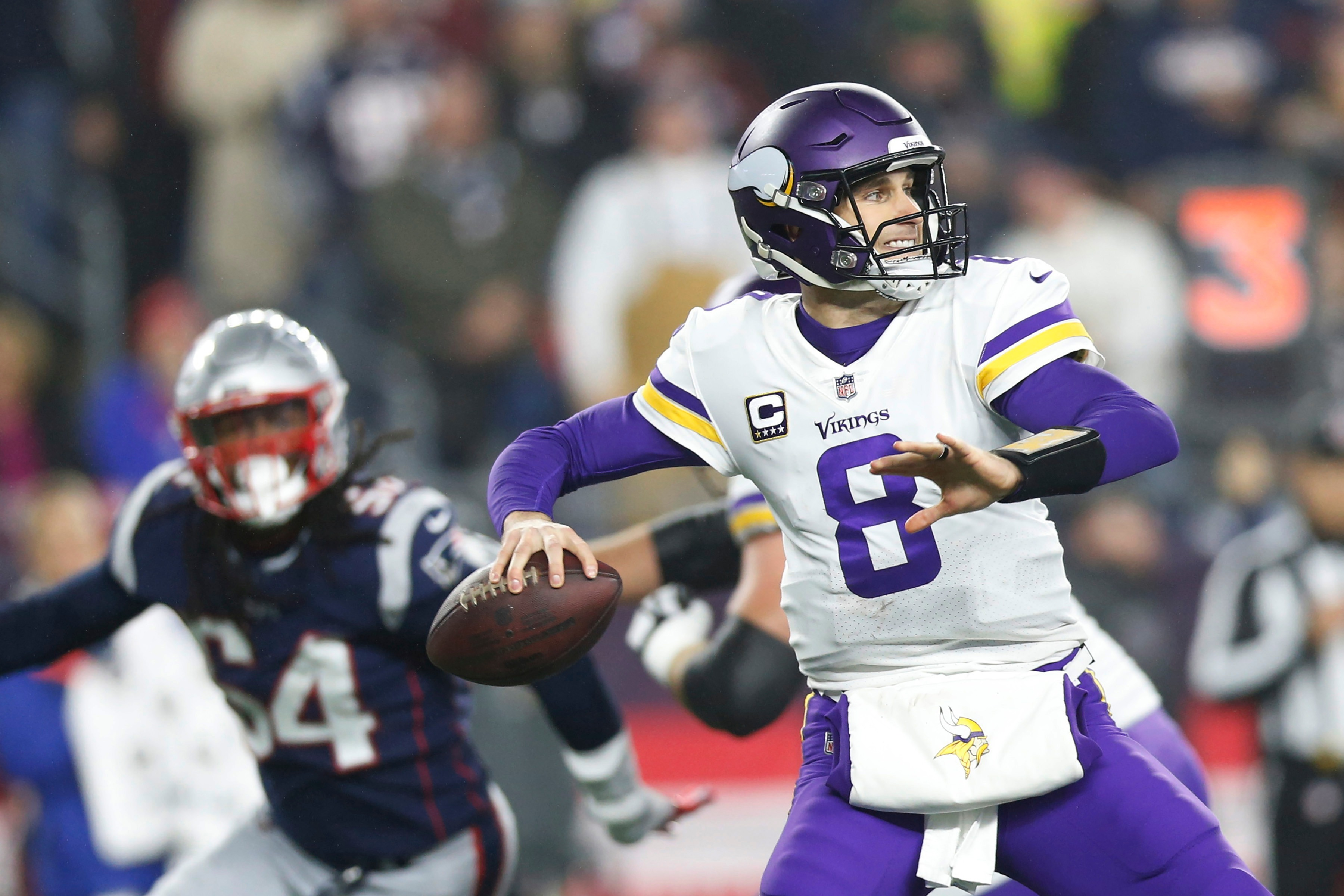 Vikings offense stalls in New England