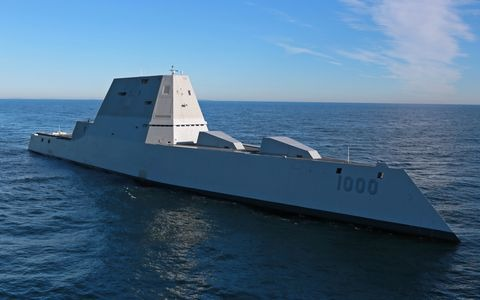 Navy Prepares Stealthy Zumwalt for New Lasers, Missiles & Guns