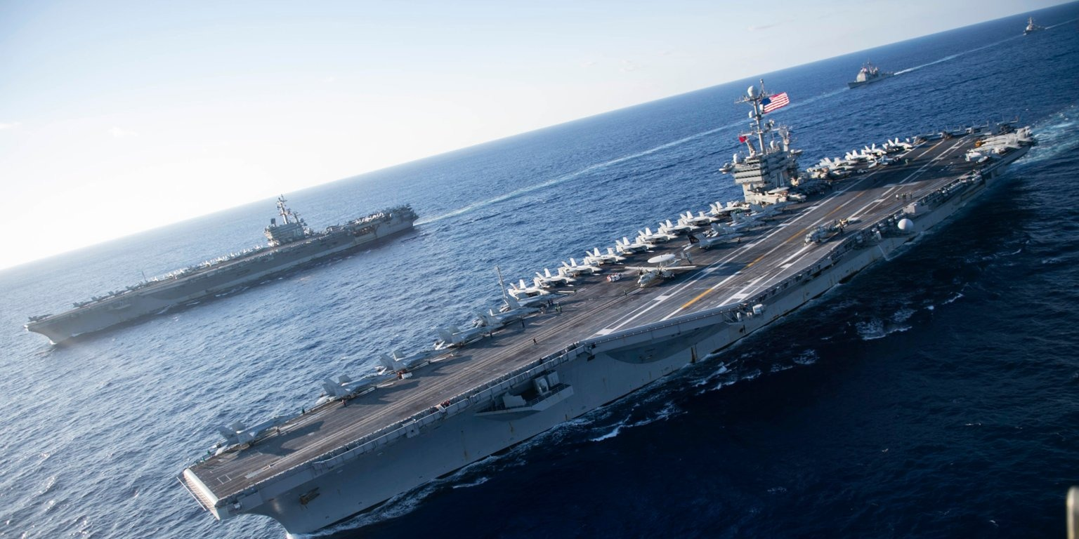 US Navy flexes with 2 carriers near China as report warns that Beijing's missile - Warrior Maven