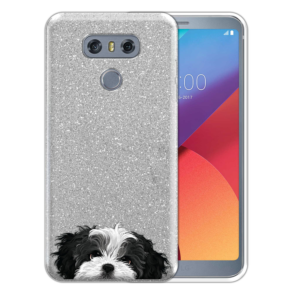 Hybrid Silver Glitter Clear Fusion Black White Shih Tzu Protector Cover Case for LG G6 H870 H871 H872 US997 LS993 VS998 AS993