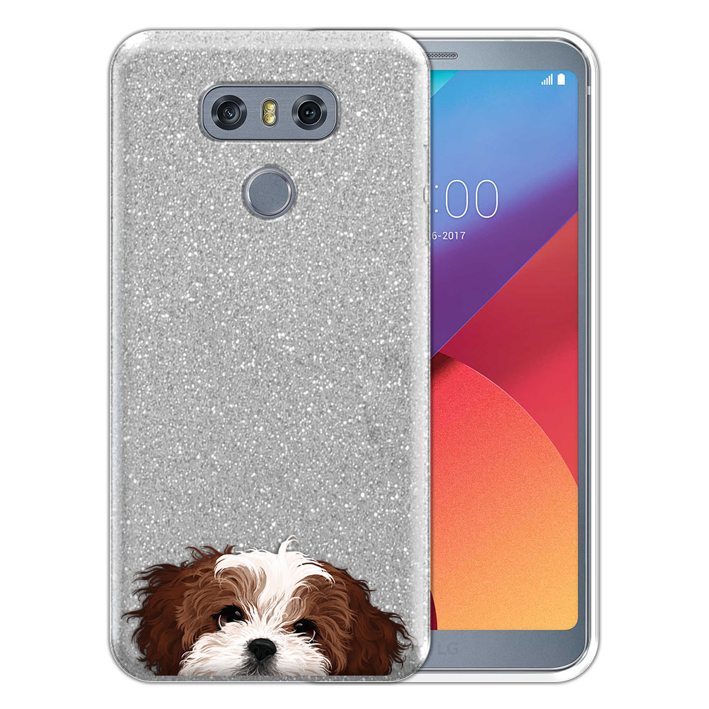 Hybrid Silver Glitter Clear Fusion Brown White Shih Tzu Protector Cover Case for LG G6 H870 H871 H872 US997 LS993 VS998 AS993