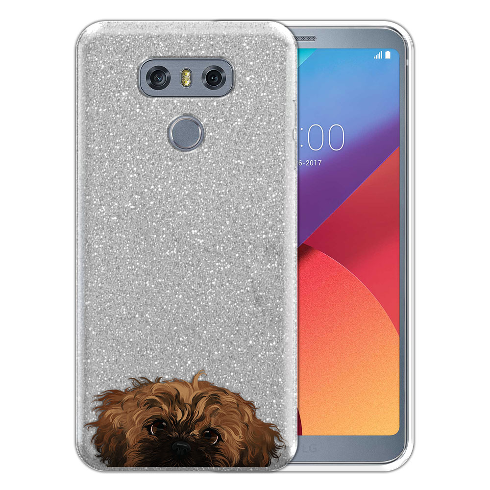 Hybrid Silver Glitter Clear Fusion Fawn Black Mask Shih Tzu Protector Cover Case for LG G6 H870 H871 H872 US997 LS993 VS998 AS993
