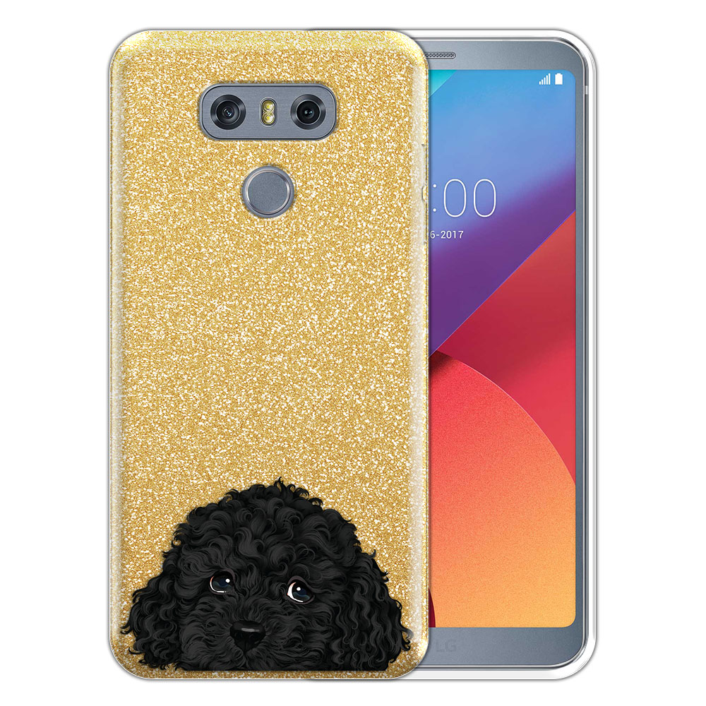 Hybrid Gold Glitter Clear Fusion Black Toy Poodle Protector Cover Case for LG G6 H870 H871 H872 US997 LS993 VS998 AS993