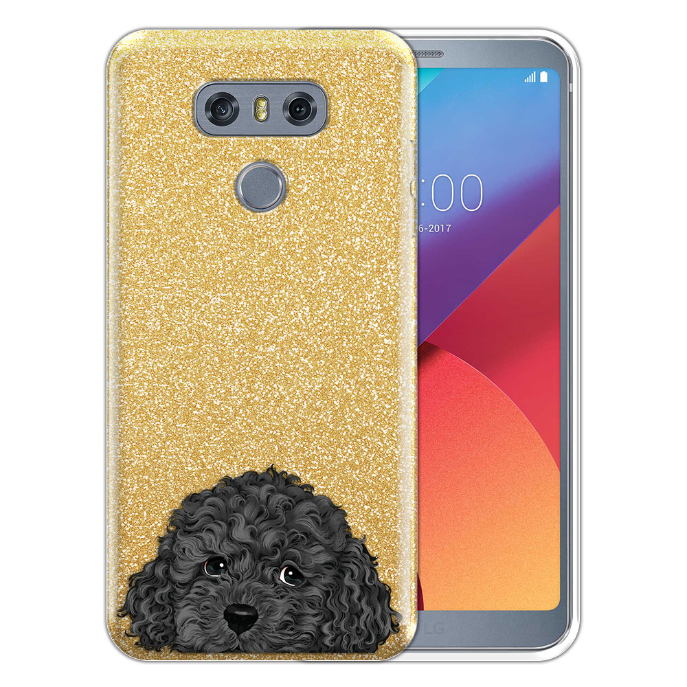 Hybrid Gold Glitter Clear Fusion Gray Toy Poodle Protector Cover Case for LG G6 H870 H871 H872 US997 LS993 VS998 AS993