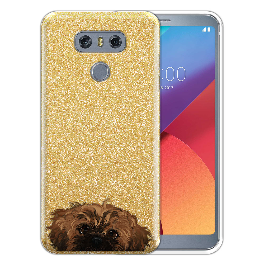 Hybrid Gold Glitter Clear Fusion Fawn Black Mask Shih Tzu Protector Cover Case for LG G6 H870 H871 H872 US997 LS993 VS998 AS993