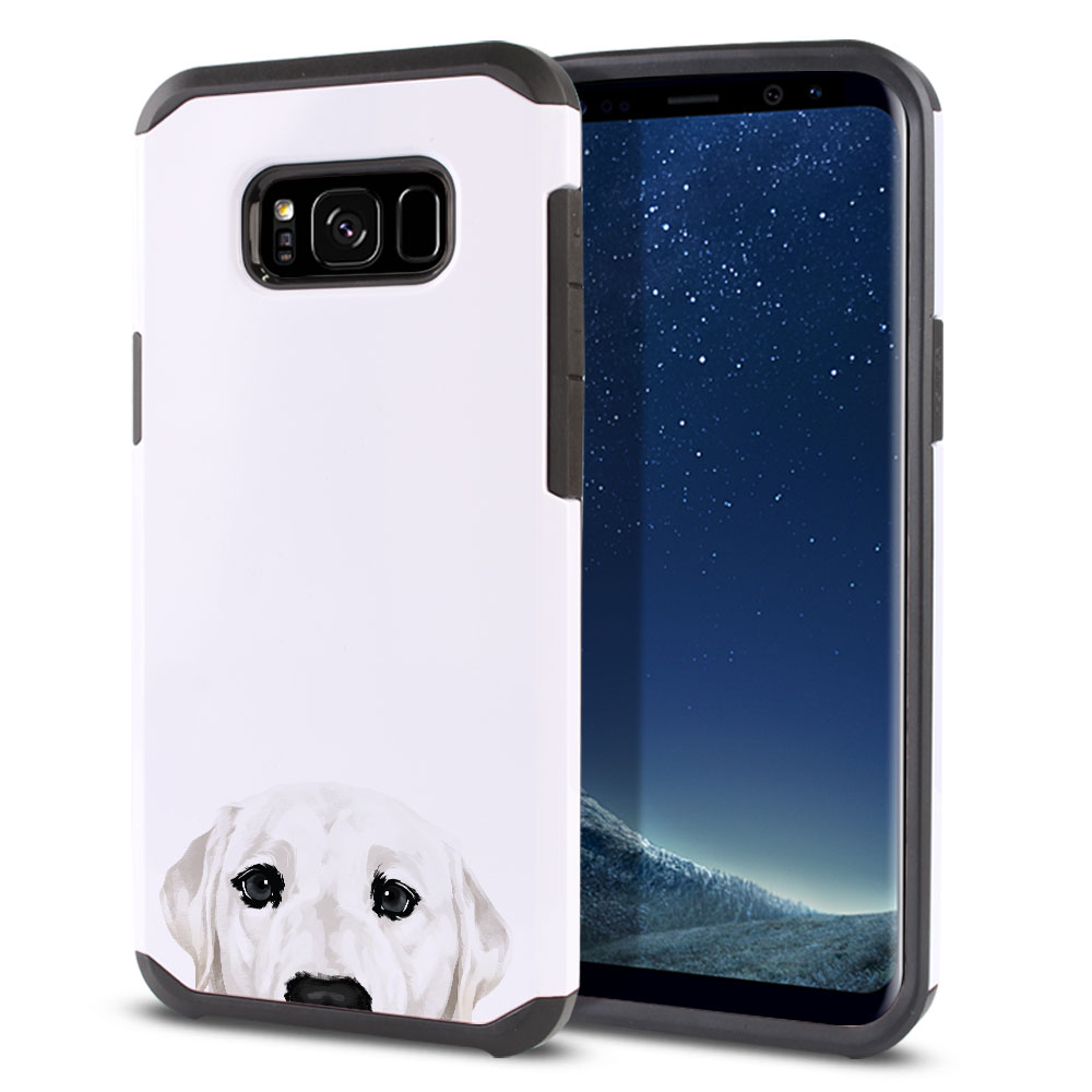 Hybrid Slim Fusion White Labrador Retriever Dog Protector Cover Case for Samsung Galaxy S8  Plus G955