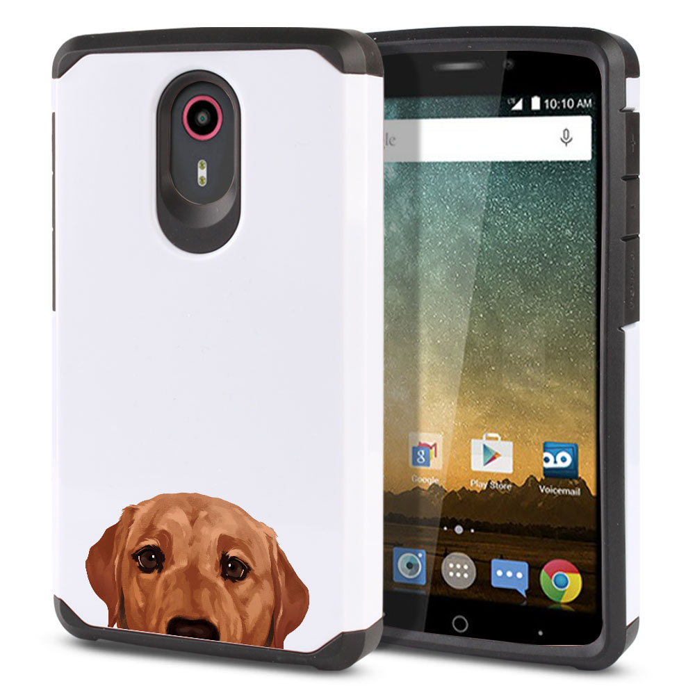 Hybrid Slim Fusion Fox Red Labrador Retriever Dog Protector Cover Case for ZTE N817 Quest Uhura