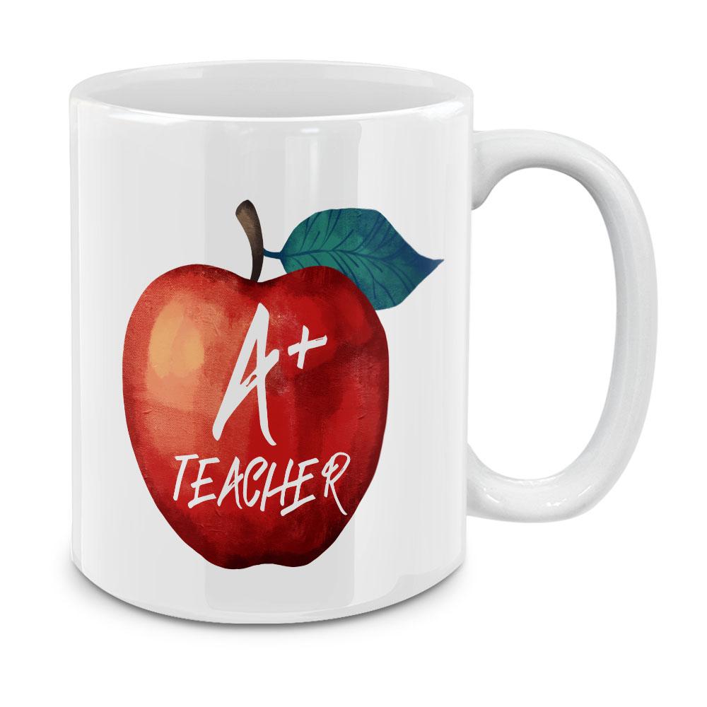 A  Teacher White Ceramic Coffee Mug Tea Cup 11 OZ