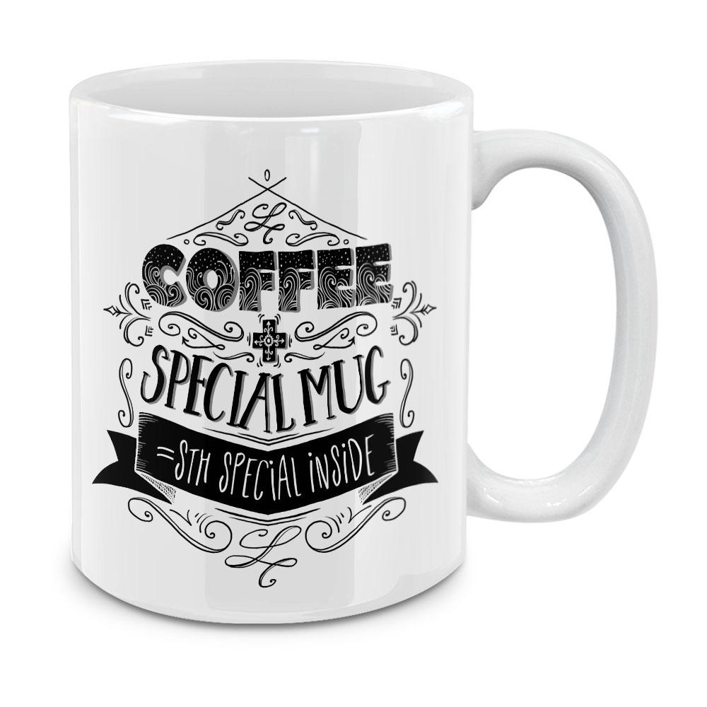 Coffee Special Mug White Ceramic Coffee Mug Tea Cup 11 OZ