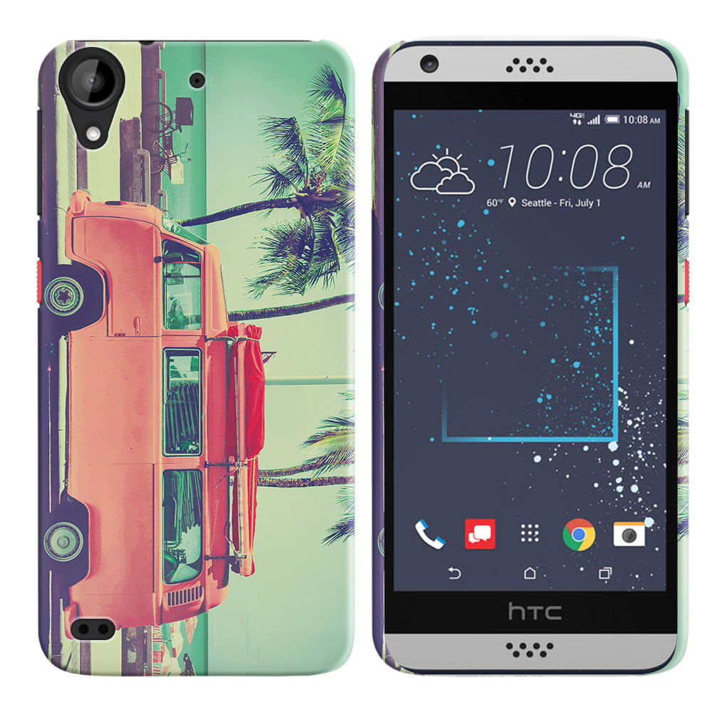 HTC Desire 530 630 Vintage Retro Beach Car Back Cover Case