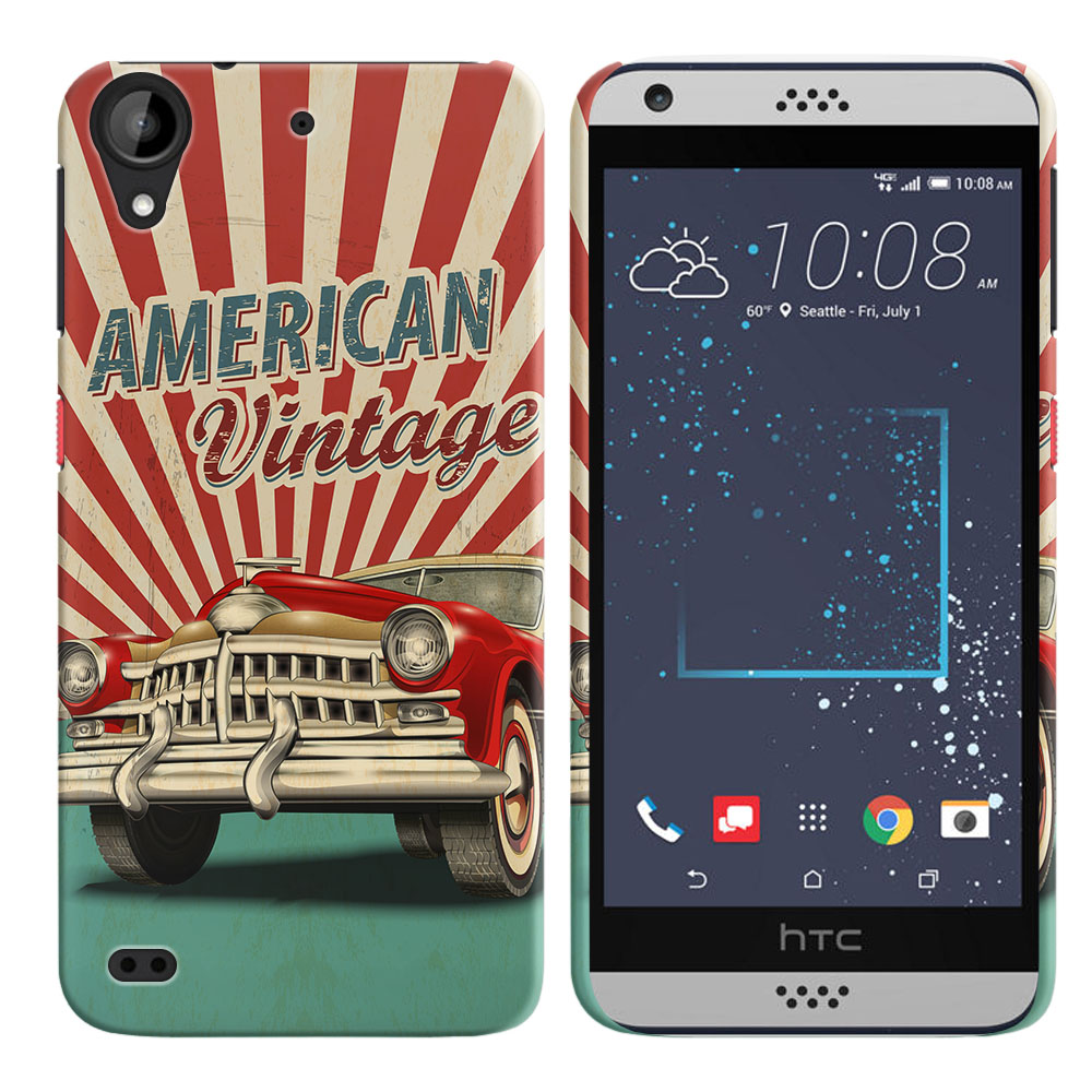 HTC Desire 530 630 American Vintage Retro Car Back Cover Case