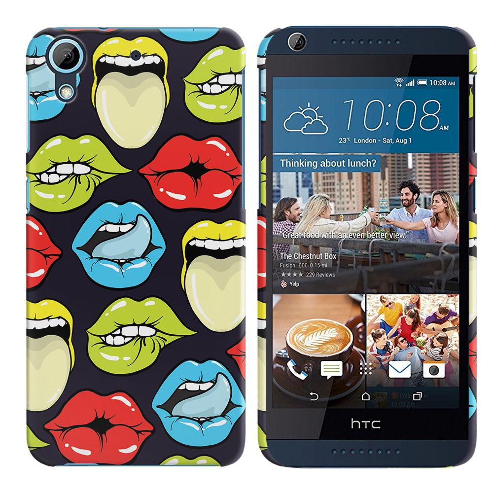HTC Desire 626 626S Pop Art Colored Lips Back Cover Case