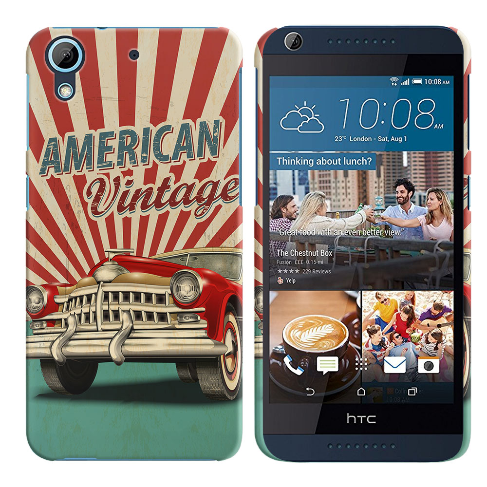 HTC Desire 626 626S American Vintage Retro Car Back Cover Case