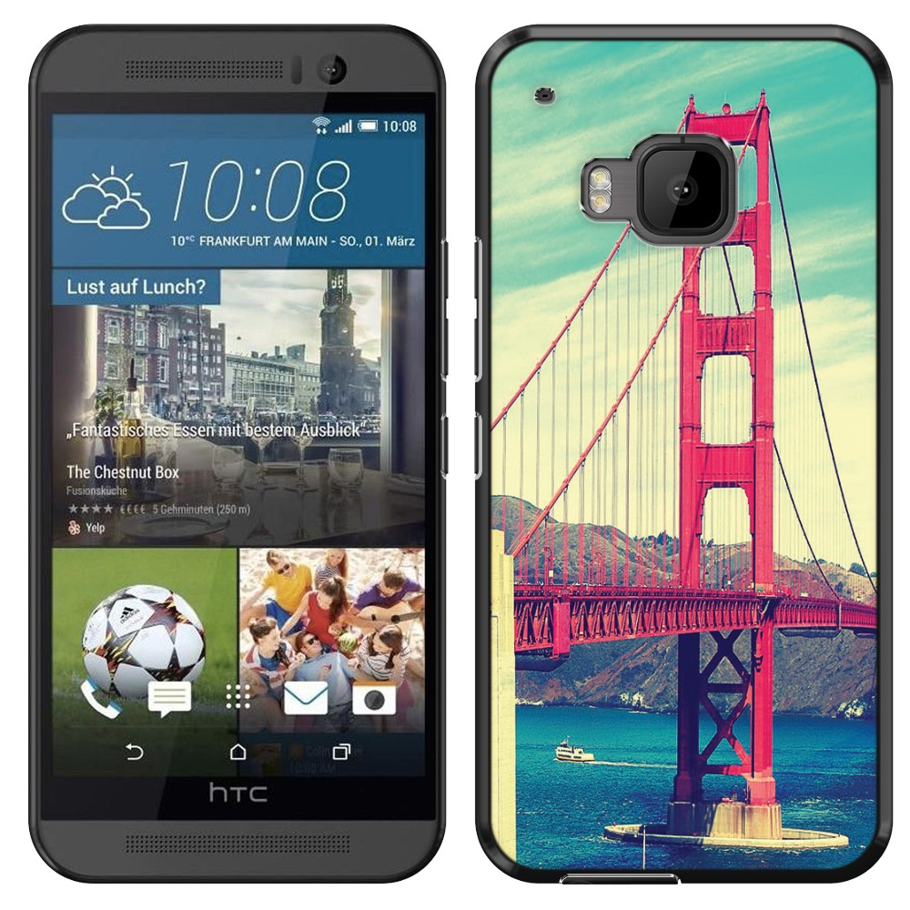 HTC One M9 Vintage Retro Golden Gate Bridge SLIM FIT Back Cover Case