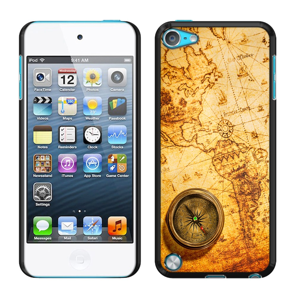 Apple iPod Touch 5 (5th Generation) iPod Touch 6 (6th Generation) Vintage Old World Map Compass SLIM FIT Back Cover Case