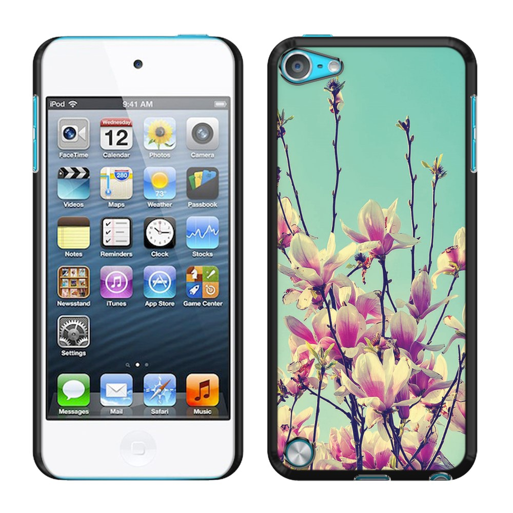 Apple iPod Touch 5 (5th Generation) iPod Touch 6 (6th Generation) Vintage Retro Spring Flowers Blossom SLIM FIT Back Cover Case