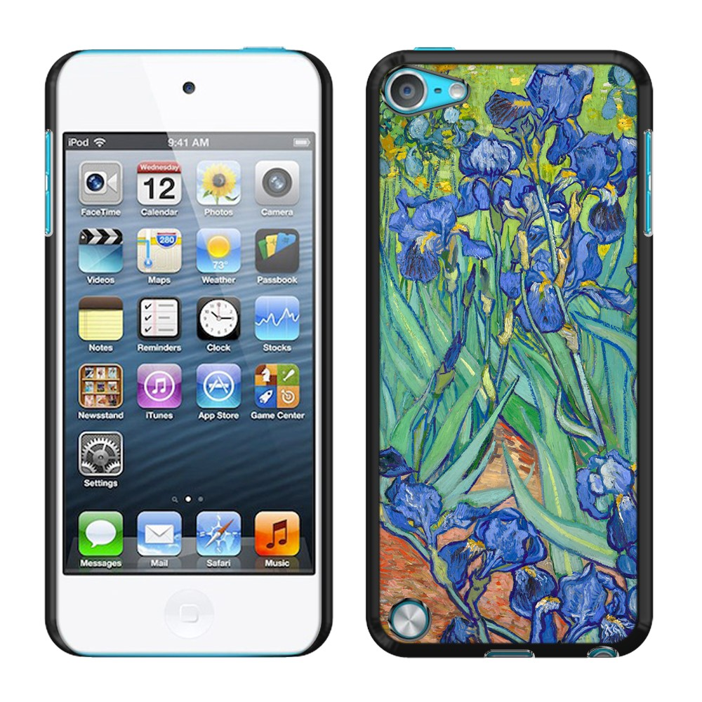 Apple iPod Touch 5 (5th Generation) iPod Touch 6 (6th Generation) Irises Vincent Van Gogh Back Cover Case