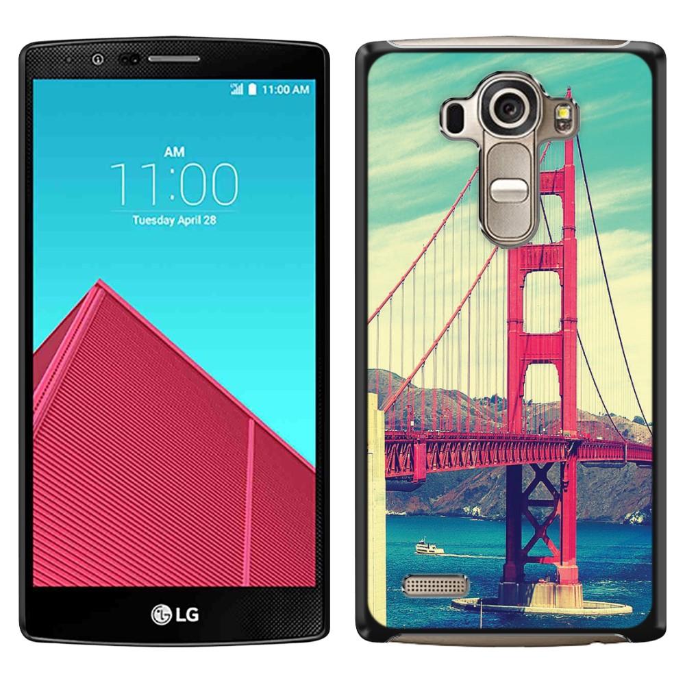 LG G4 H815 F500 VS986 H810 Vintage Retro Golden Gate Bridge SLIM FIT Back Cover Case