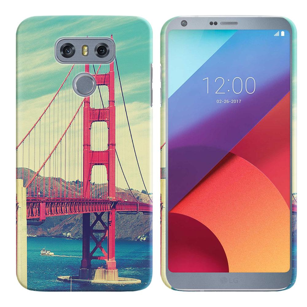 LG G6 H870 H871 H872 US997 LS993 VS998 AS993 Vintage Retro Golden Gate Bridge Back Cover Case
