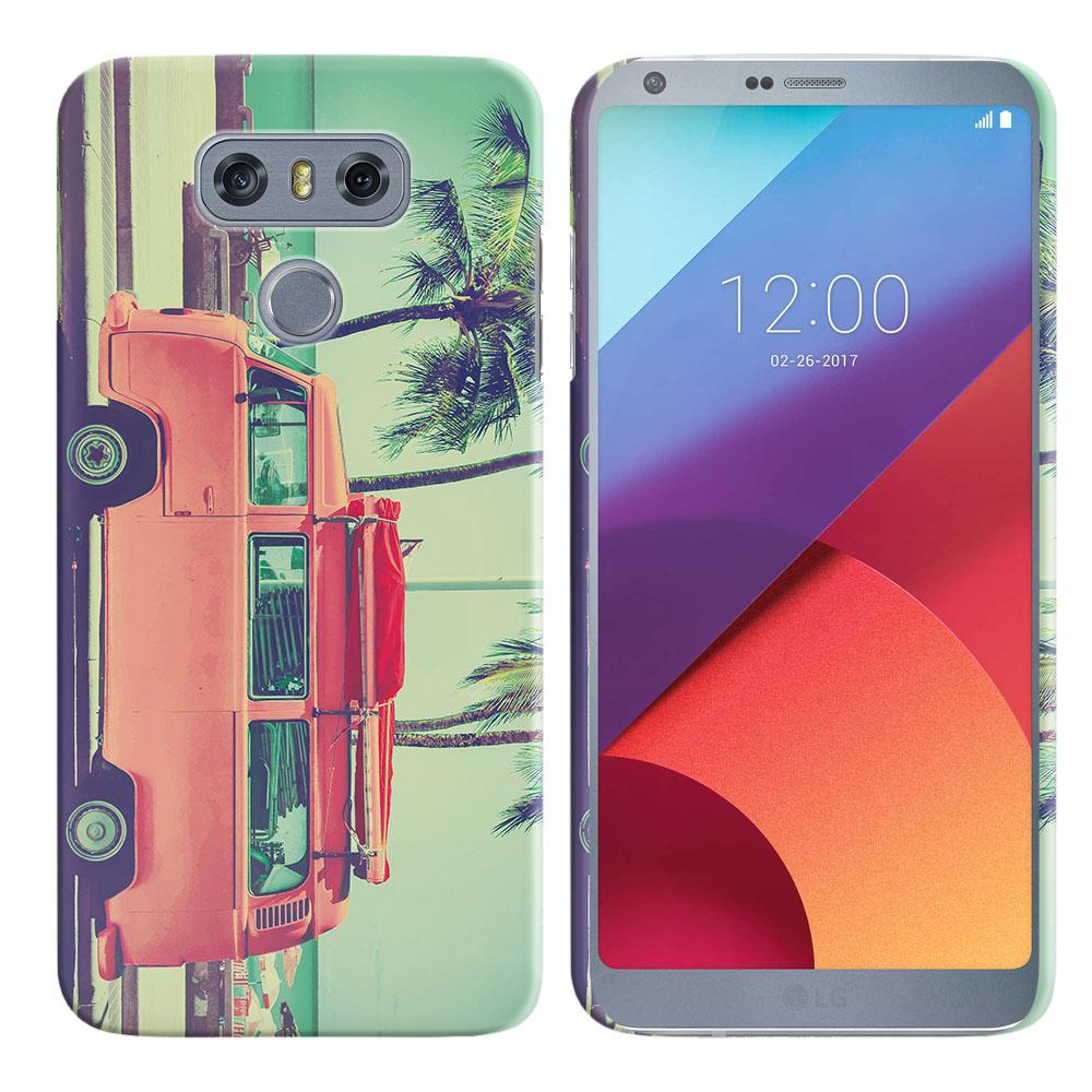 LG G6 H870 H871 H872 US997 LS993 VS998 AS993 Vintage Retro Beach Car Back Cover Case