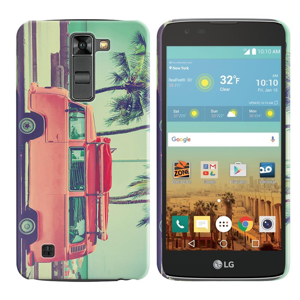 LG K7 Tribute 5 LS675 MS330 M1 Treasure L51AL L51VL L52AL L52VL Vintage Retro Beach Car Back Cover Case