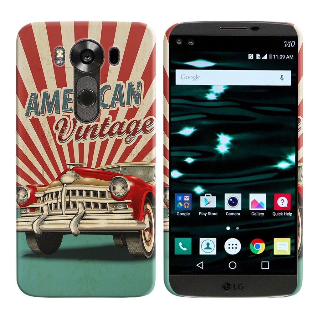 LG V10 H900 VS990 H901 H968 H961N American Vintage Retro Car Back Cover Case