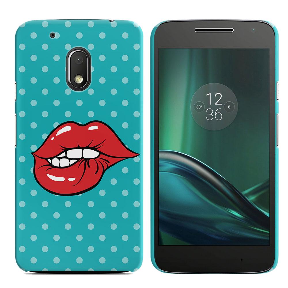 Motorola Moto G4 Play 5 inch XT1607 XT1609 Pop Art Biting Lips Back Cover Case