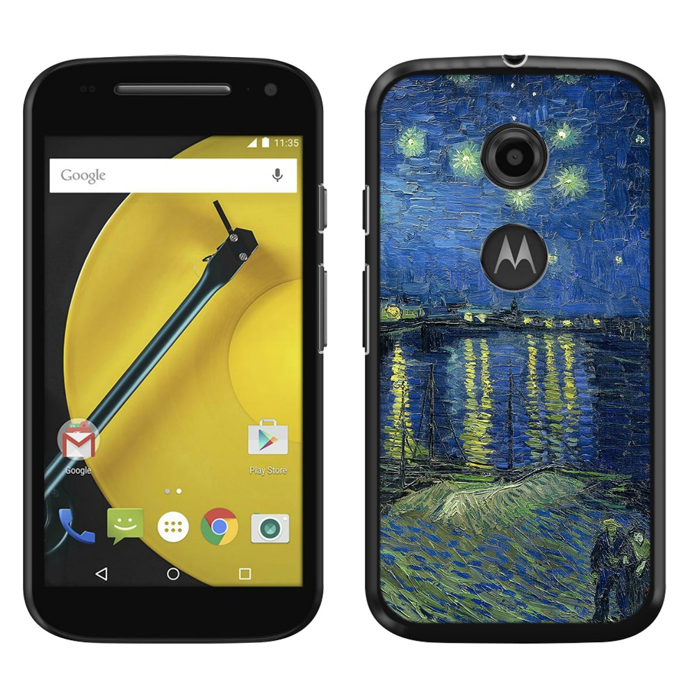 Motorola Moto E LTE 2nd Gen 2015 Starry Night Over The Rhone Back Cover Case