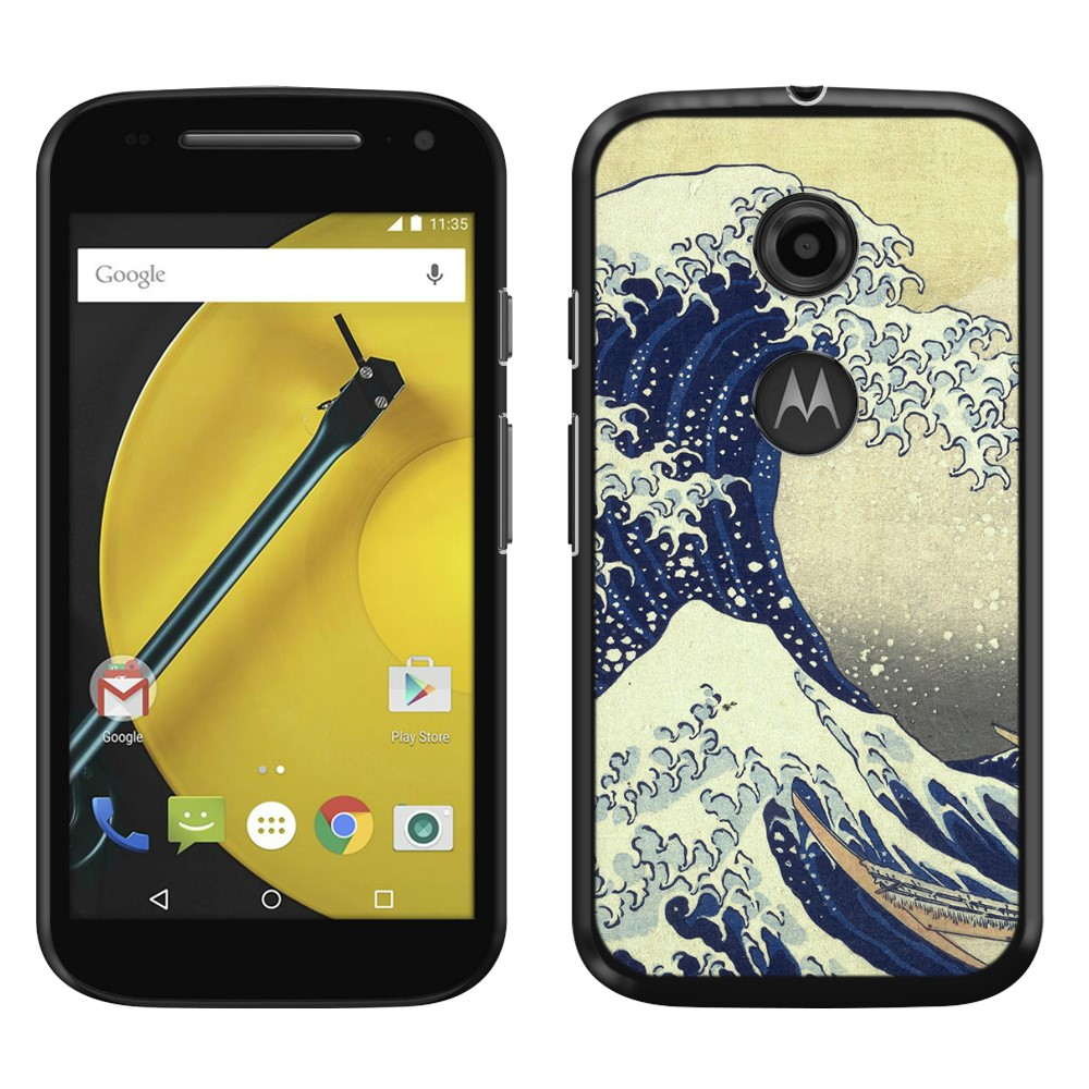 Motorola Moto E LTE 2nd Gen 2015 The Great Wave Off Kanagawa Back Cover Case