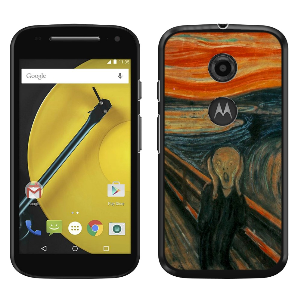 Motorola Moto E LTE 2nd Gen 2015 The Scream Edvard Munch Back Cover Case
