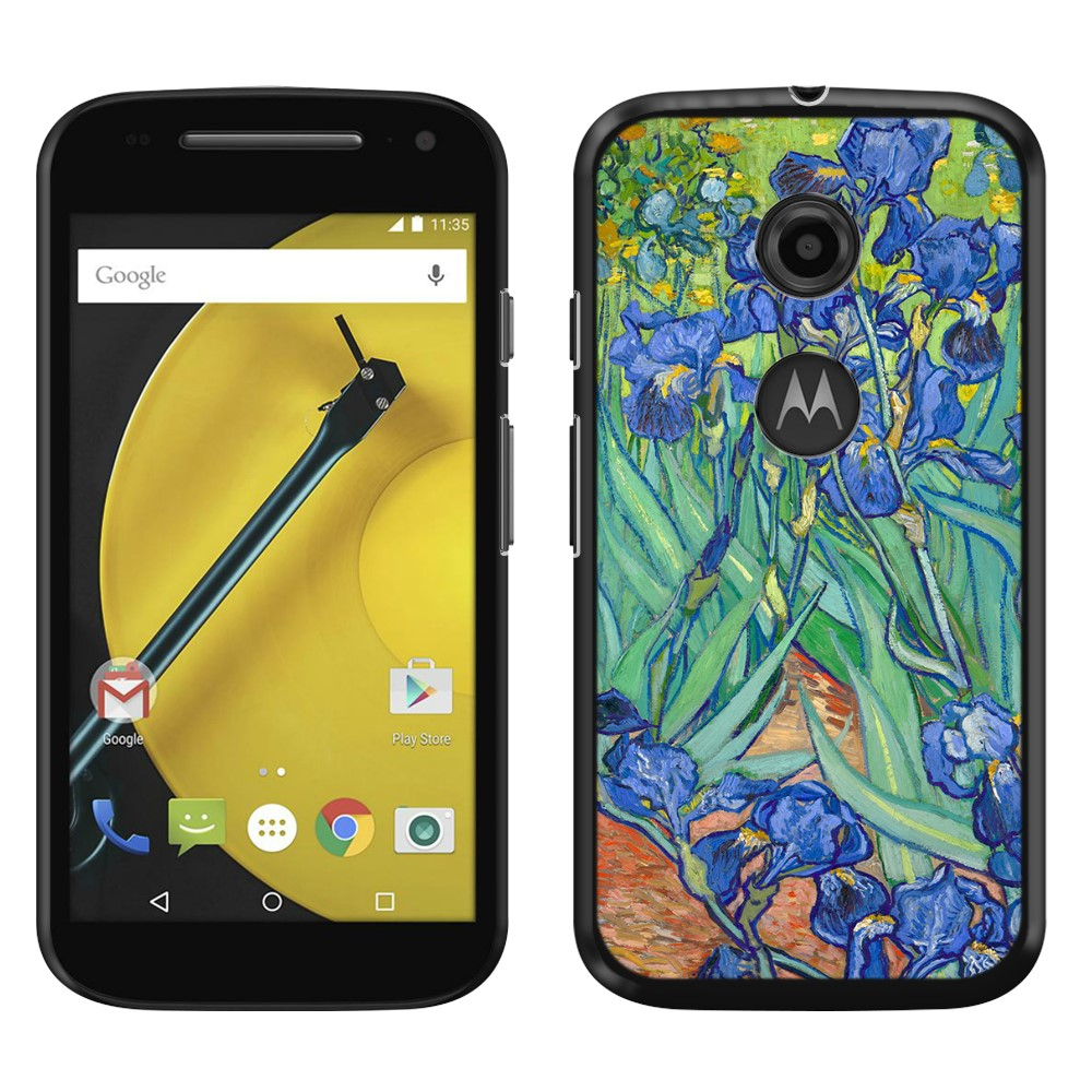 Motorola Moto E LTE 2nd Gen 2015 Irises Vincent Van Gogh Back Cover Case