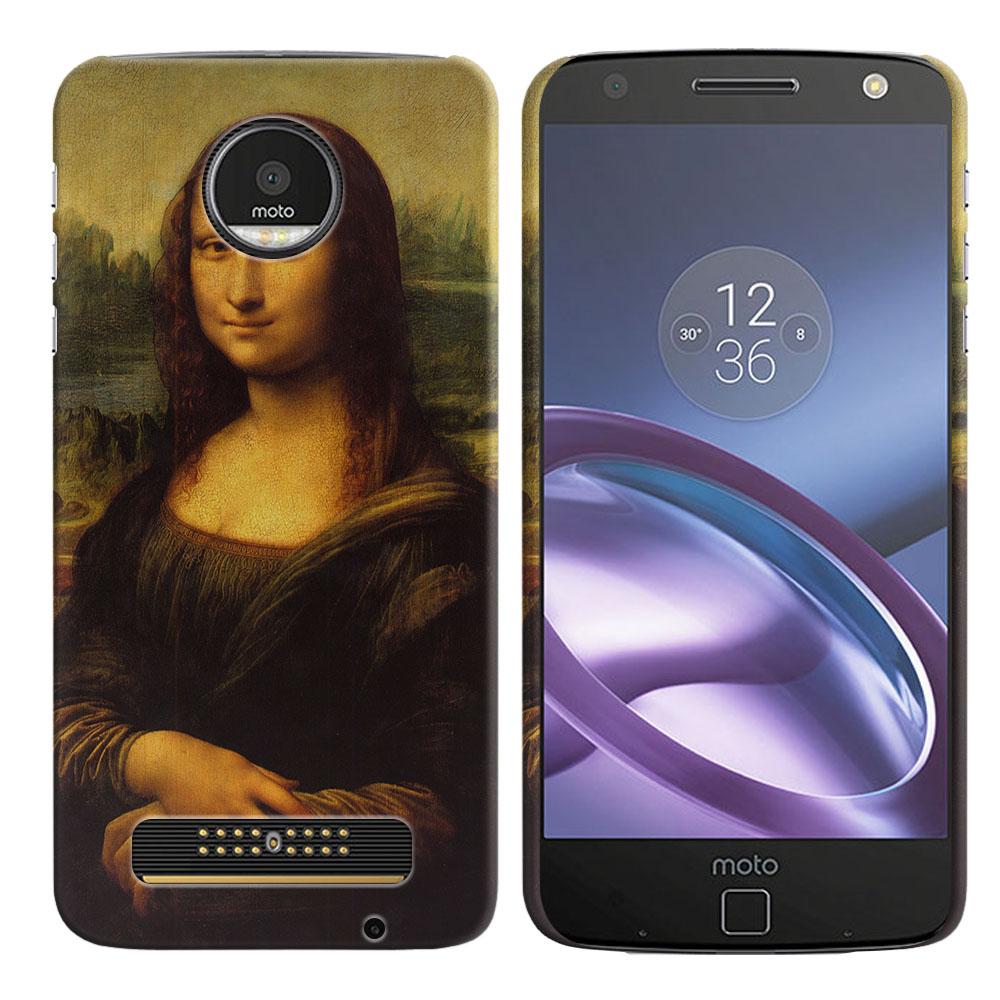 Motorola Moto Z Droid Edition Mona Lisa Leonardo Da Vinci Back Cover Case