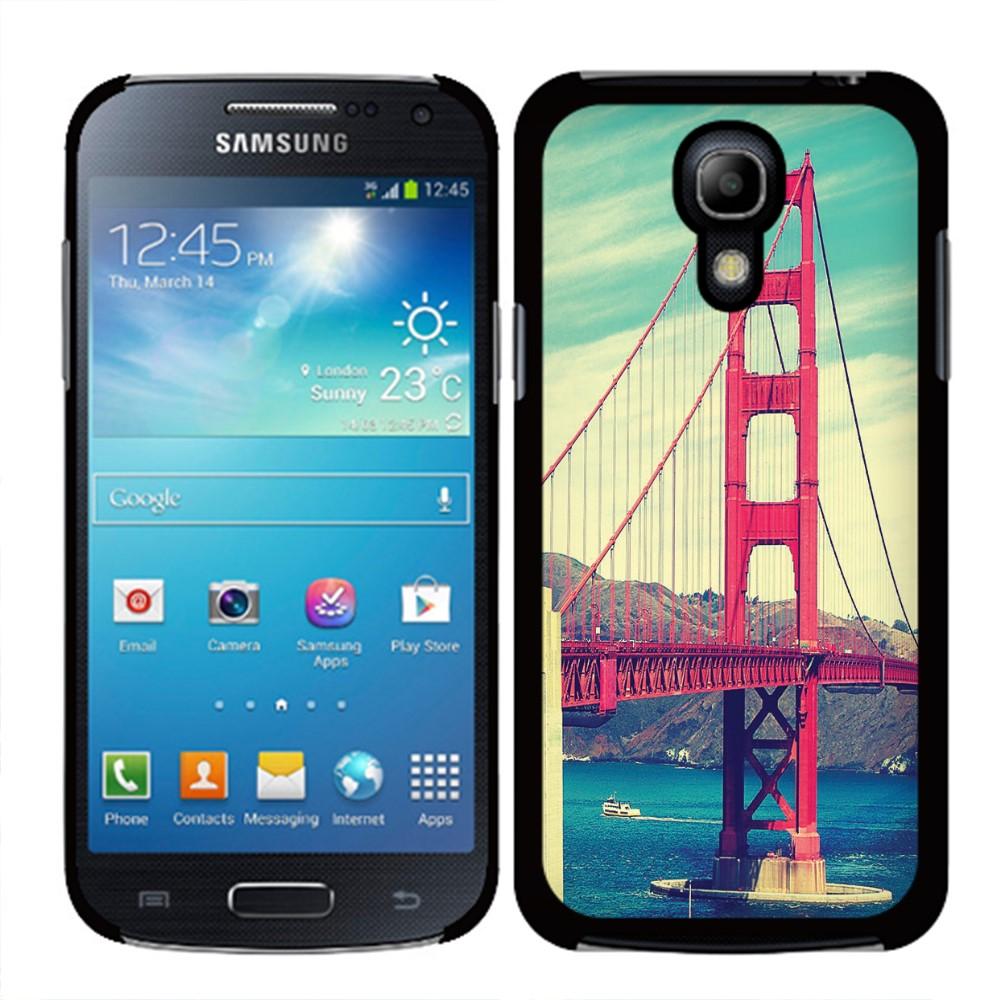 Samsung Galaxy S4 mini I9190 Vintage Retro Golden Gate Bridge SLIM FIT Back Cover Case