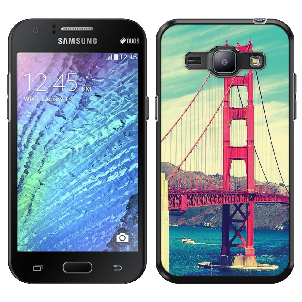 Samsung Galaxy J1 J100 Vintage Retro Golden Gate Bridge SLIM FIT Back Cover Case