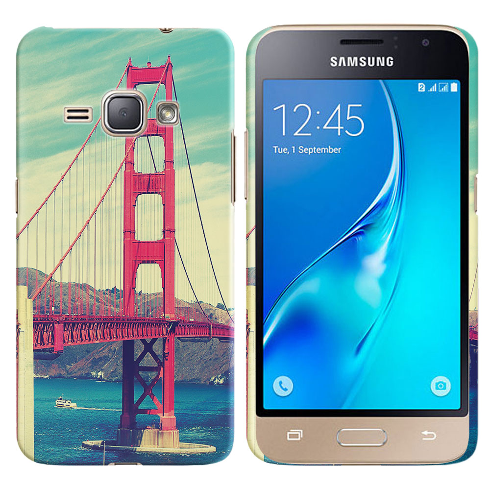 Samsung Galaxy J1 J120 2nd Gen 2016 Galaxy AMP 2 2nd Gen 2016 Galaxy Express 3 Galaxy Luna S120 Vintage Retro Golden Gate Bridge Back Cover Case