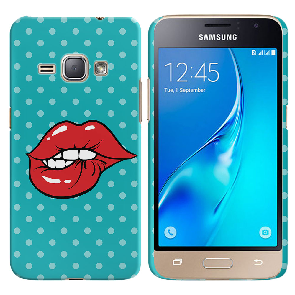 Samsung Galaxy J1 J120 2nd Gen 2016 Galaxy AMP 2 2nd Gen 2016 Galaxy Express 3 Galaxy Luna S120 Pop Art Biting Lips Back Cover Case