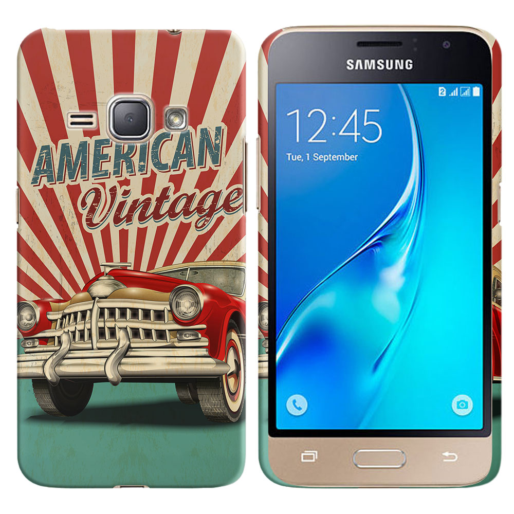 Samsung Galaxy J1 J120 2nd Gen 2016 Galaxy AMP 2 2nd Gen 2016 Galaxy Express 3 Galaxy Luna S120 American Vintage Retro Car Back Cover Case