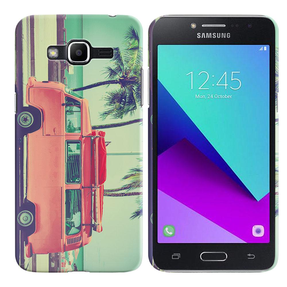 Samsung Galaxy J2 Prime 2016 G532 Grand Prime Plus Vintage Retro Beach Car Back Cover Case