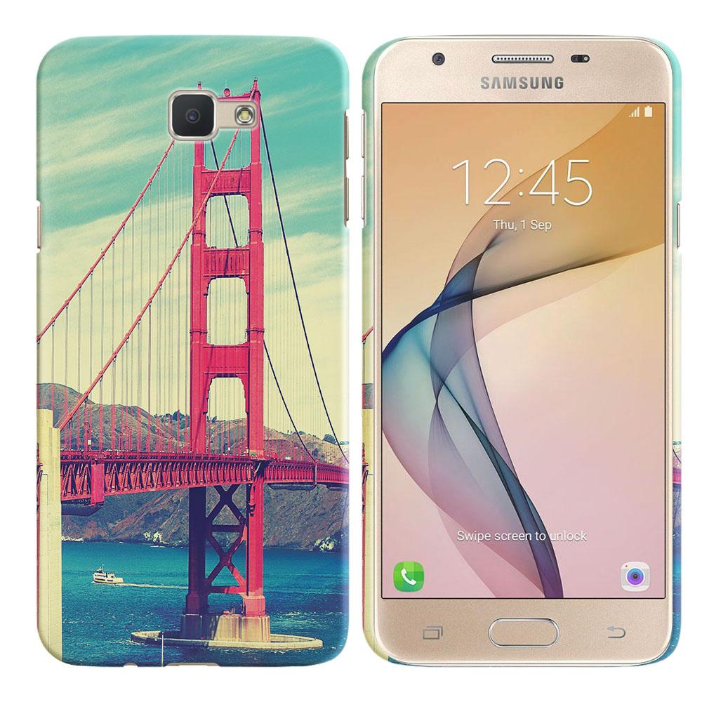 Samsung Galaxy J5 Prime G570/ On5 2016 5 inch Vintage Retro Golden Gate Bridge Back Cover Case