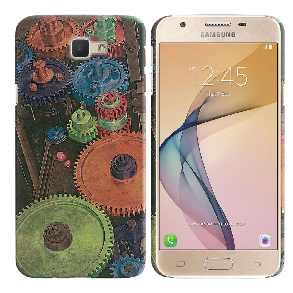 Samsung Galaxy J5 Prime G570/ On5 2016 5 inch Vintage Colorful Gears Back Cover Case