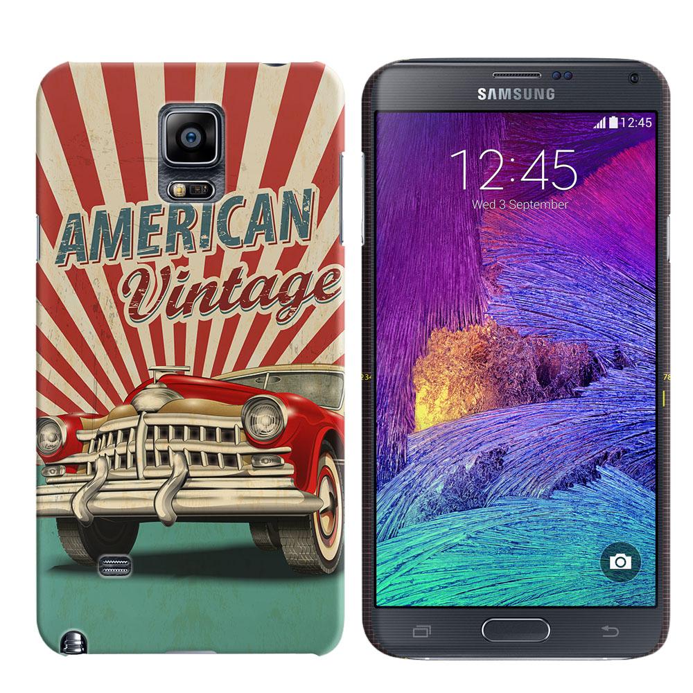 Samsung Galaxy Note 4 N910 American Vintage Retro Car Back Cover Case