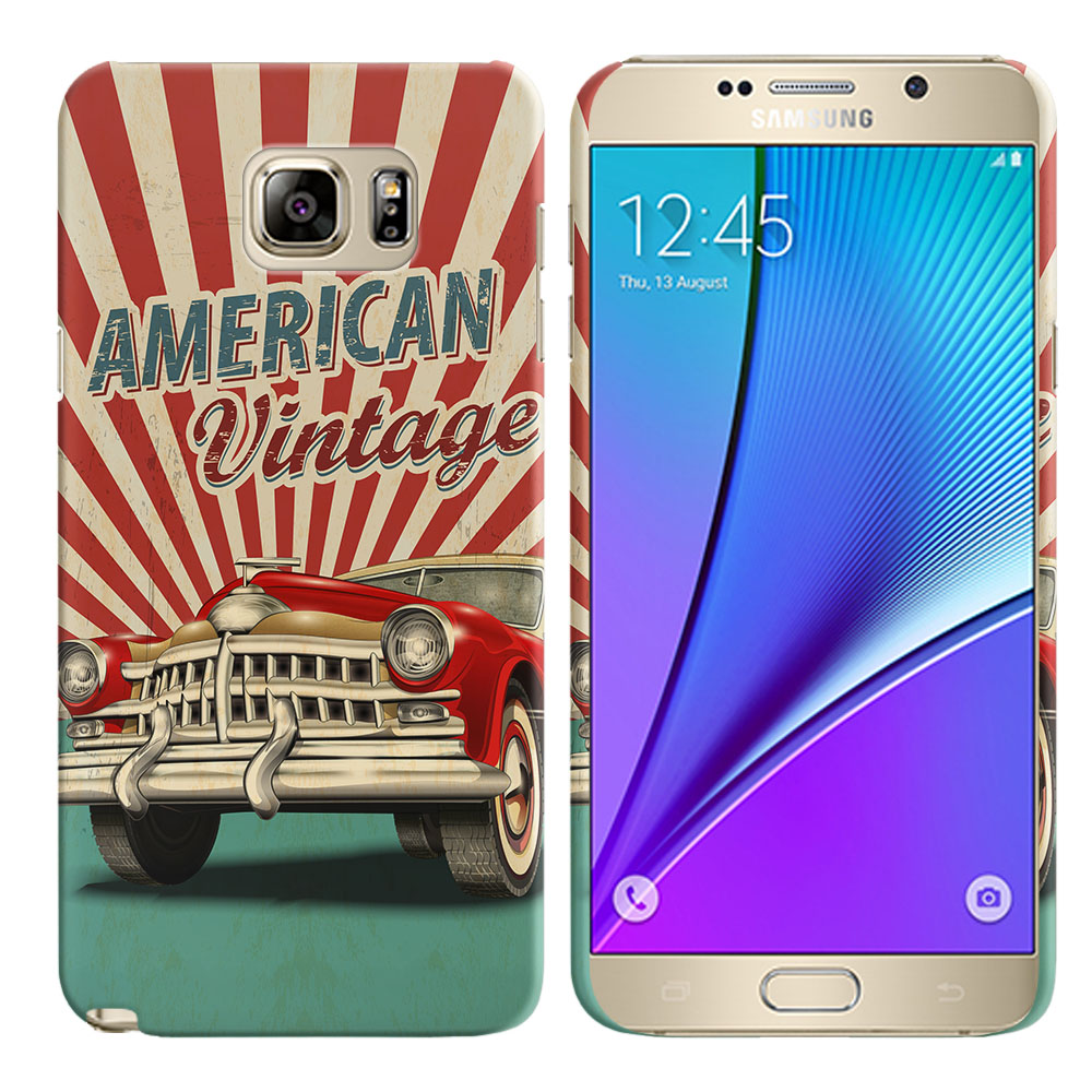 Samsung Galaxy Note 5 N920 American Vintage Retro Car Back Cover Case