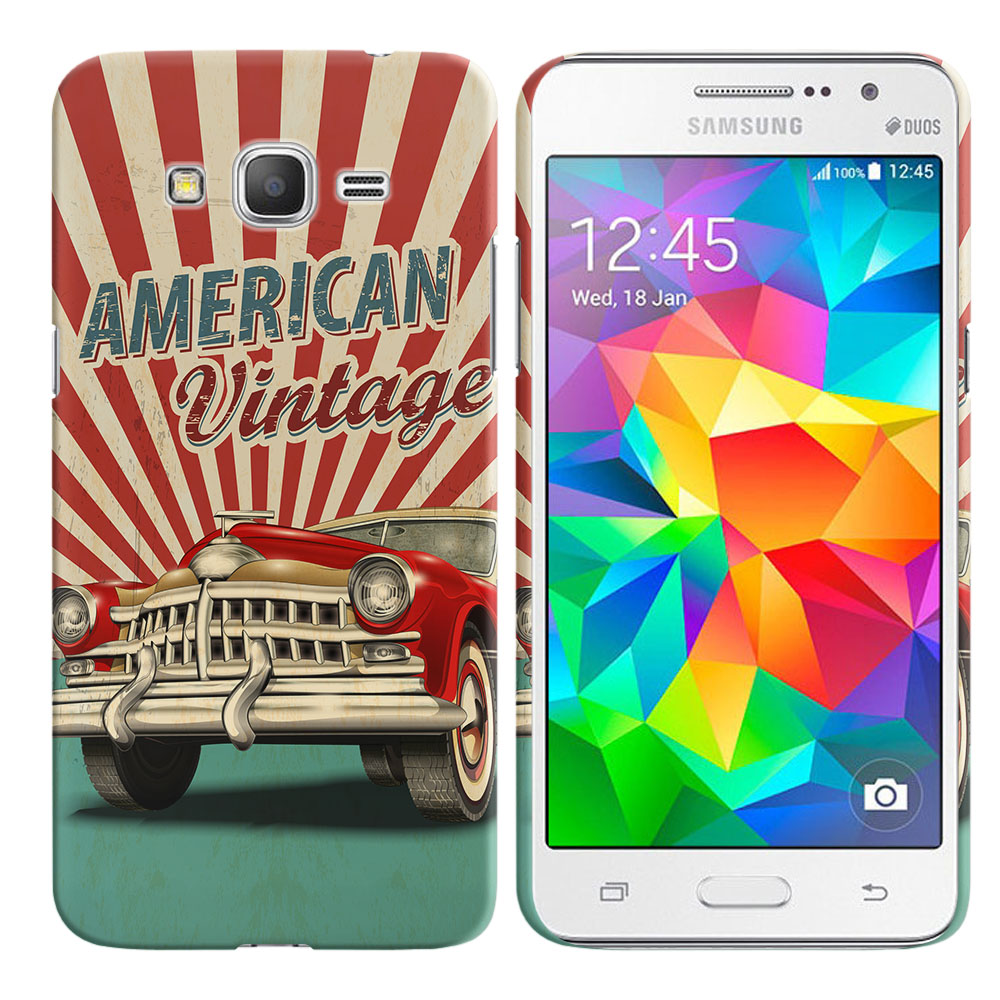 Samsung Galaxy Grand Prime G530 American Vintage Retro Car Back Cover Case