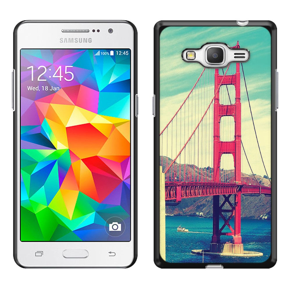 Samsung Galaxy Grand Prime G530 Vintage Retro Golden Gate Bridge SLIM FIT Back Cover Case